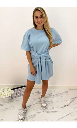 LIGHT BLUE - 'KNOT ME UP' - SUPER COMFY OVERSIZED KNOT TEE