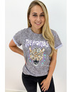 LILA - 'FIGHTERS' - DOTTED AMBIKA TIGER HEAD TEE