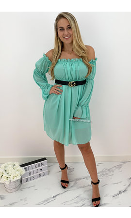 MINT GREEN - 'TIANA' - GYPSY OFF SHOULDER DRESS