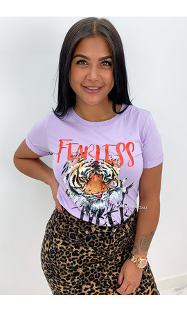 LILA - 'FEARLESS TIGER' - TIGER HEAD TEE