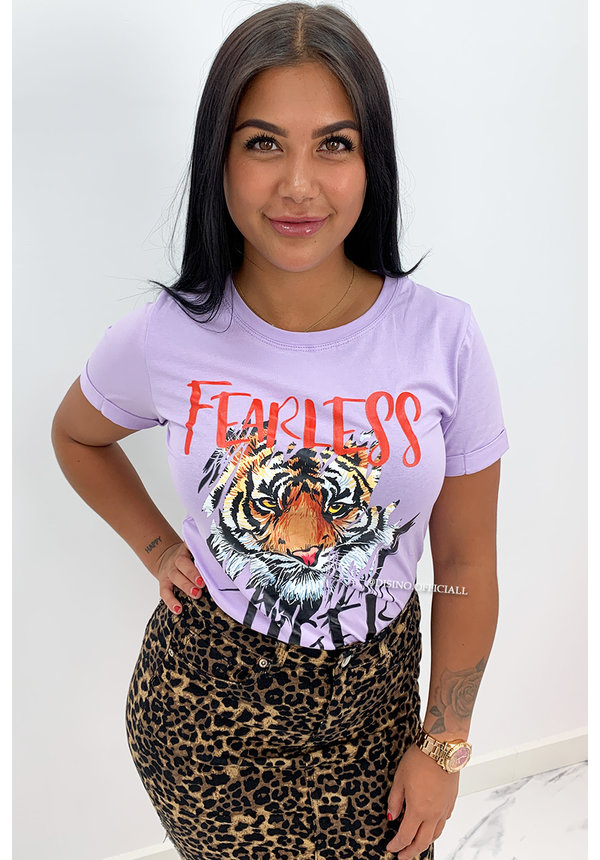 LILA - 'FEARLESS TIGER' - TIGER HEAD TEE