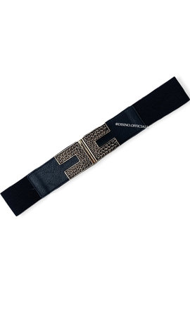 GOLD - 'DOUBLE C' - ELASTIC WAIST BELT