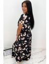 BLACK - 'CINDY' - FLORAL MAXI DRESS