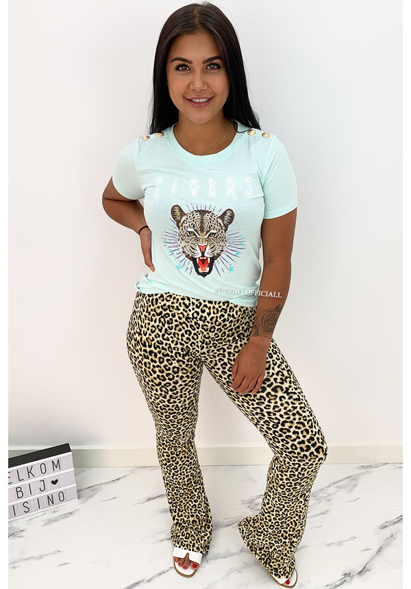 MINT GREEN - 'FUNKY TIGERS' - INSPIRED TEE