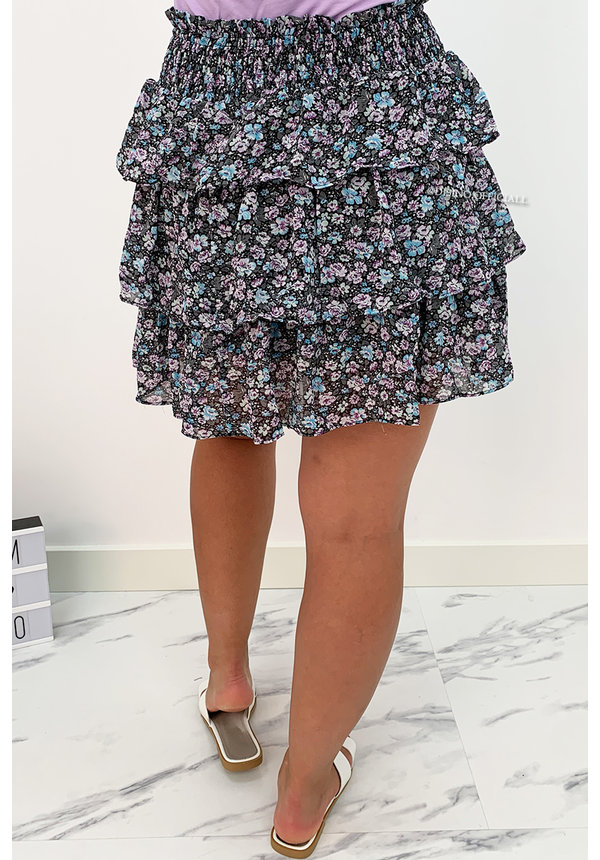 LILA - 'JESSIE' - FLORAL LAYERED RUFFLE SKIRT