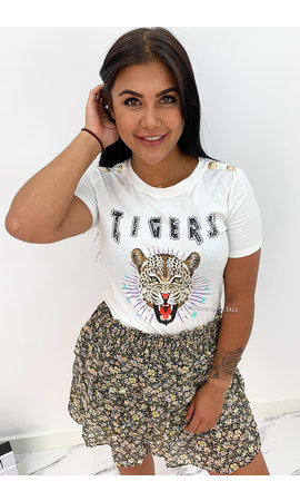 WHITE - 'FUNKY TIGERS' - INSPIRED TEE