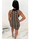 NUDE - 'SHANNON HALTER' - PREMIUM QUALITY INSPIRED BODYCON DRESS