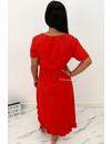 RED - 'LAGERA V2' - BASIC RUFFLE MAXI DRESS