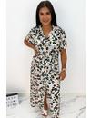 MINT - 'NAOMI' - COLORFULL LEO PRINT BLOUSE MAXI DRESS