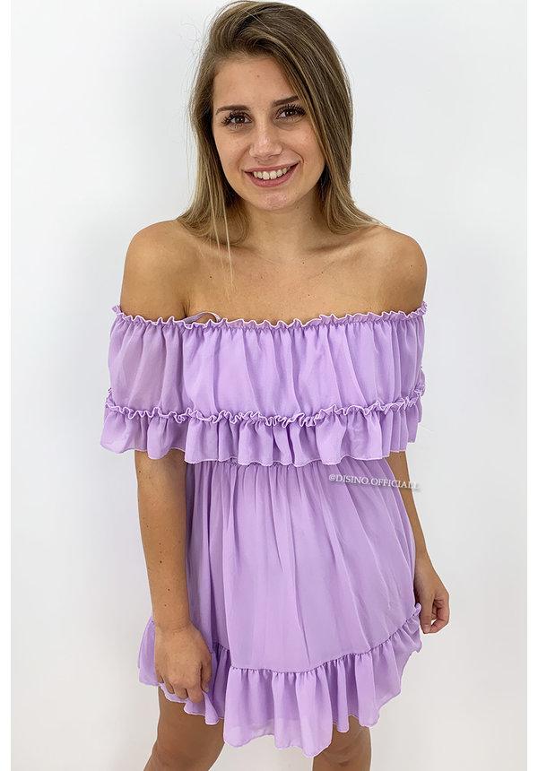 LILA - 'CARMEN' - OFF SHOULDER RUFFLE DRESS