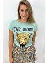 MINT GREEN - 'THE REBEL' - INSPIRED LEO HEAD TEE