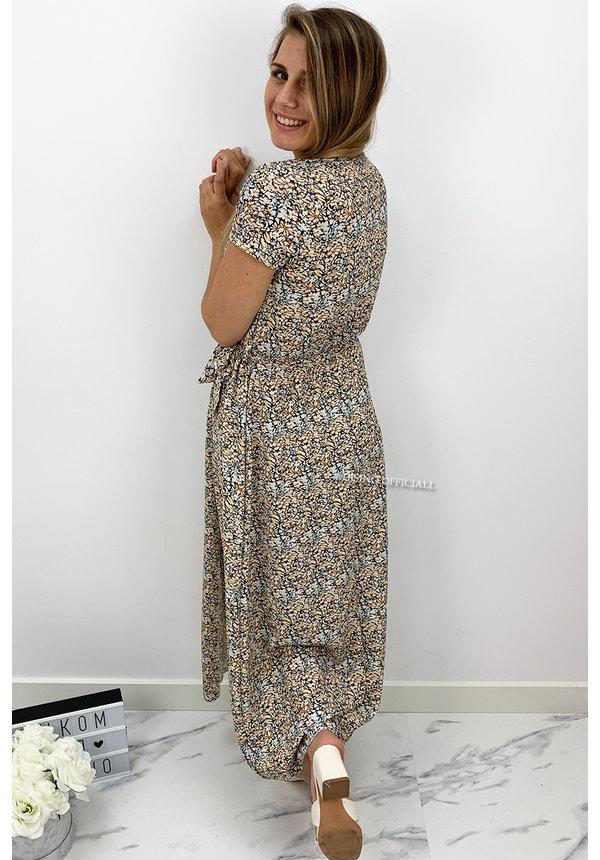 YELLOW - 'MARIE MAXI DRESS' - INSPIRED FLORAL PRINT MAXI DRESS