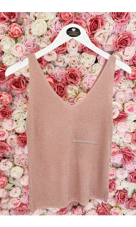 SOFT PINK - 'SPARKLE NOVI' - BASIC LUREX TOP