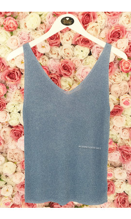 LIGHT BLUE - 'SPARKLE NOVI' - BASIC LUREX TOP