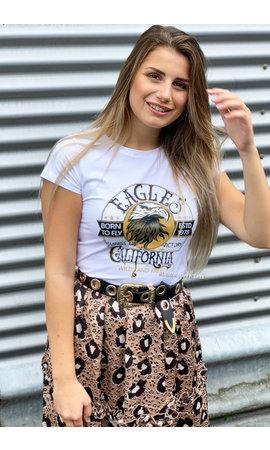 WHITE - 'CALIFORNIA EAGLES' - INSPIRED TEE