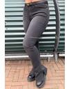 DARK GREY - 'BILLIE SPLIT' - SUPER STRETCH DENIM FLARED PANTS WITH SIDE SPLIT