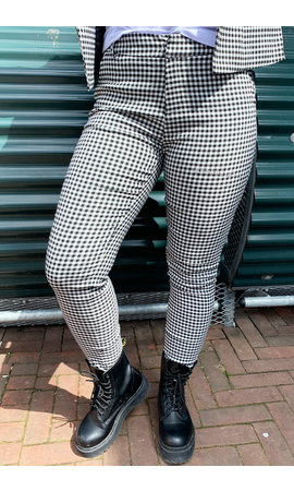 BLACK - 'RAQUEL PANTS' - PREMIUM QUALITY CHECKED PANTS