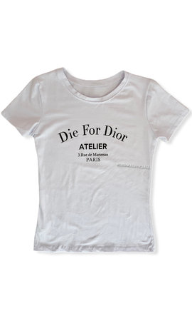WHITE - 'DIE FOR DIOR' - SLIM FIT TEE