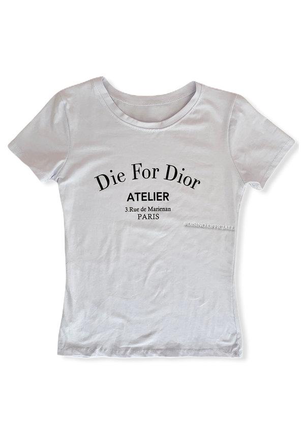 WHITE - 'DIE FOR DIOR' - SLIM FIT TEE