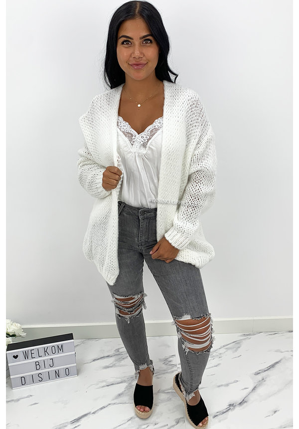 WHITE - 'LIMA' - PREMIUM QUALITY BASIC LACE TOP
