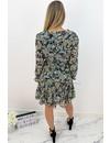 BLACK - 'MARIE SHORT' - FLORAL INSPIRED RUFFLE LONG SLEEVE DRESS