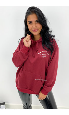 WINE RED - 'DIE FOR DIOR HOODIE' - SOFT TOUCH INSPIRED HOODIE