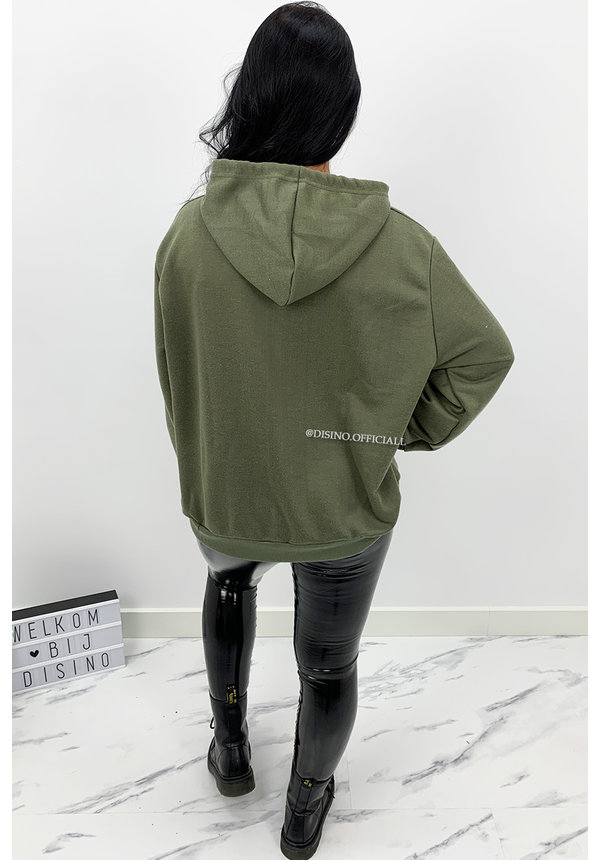 ARMY GREEN - 'DIE FOR DIOR HOODIE' - SOFT TOUCH INSPIRED HOODIE