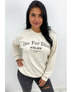 BEIGE - 'DIE FOR DIOR SWEATER' - SOFT TOUCH INSPIRED LONG SLEEVE SWEATER