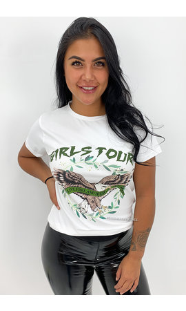 WHITE ARMY - 'GIRLS TOUR' - PREMIUM QUALITY EAGLE TEE