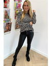 BLACK - 'LOUISA' - SOFT TOUCH LEOPARD COMFY SWEATER