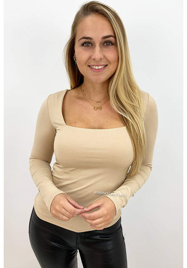 NUDE - 'NICOLE' - PERFECT FIT LONG SLEEVE TOP