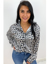 BLACK - 'CHELSEY' - INSPIRED CHAINS BLOUSE