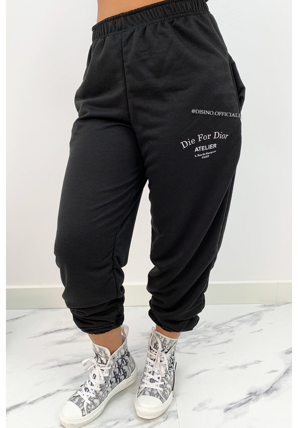 BLACK - 'DIE FOR DIOR JOGGER' - SOFT TOUCH JOGGER PANTS