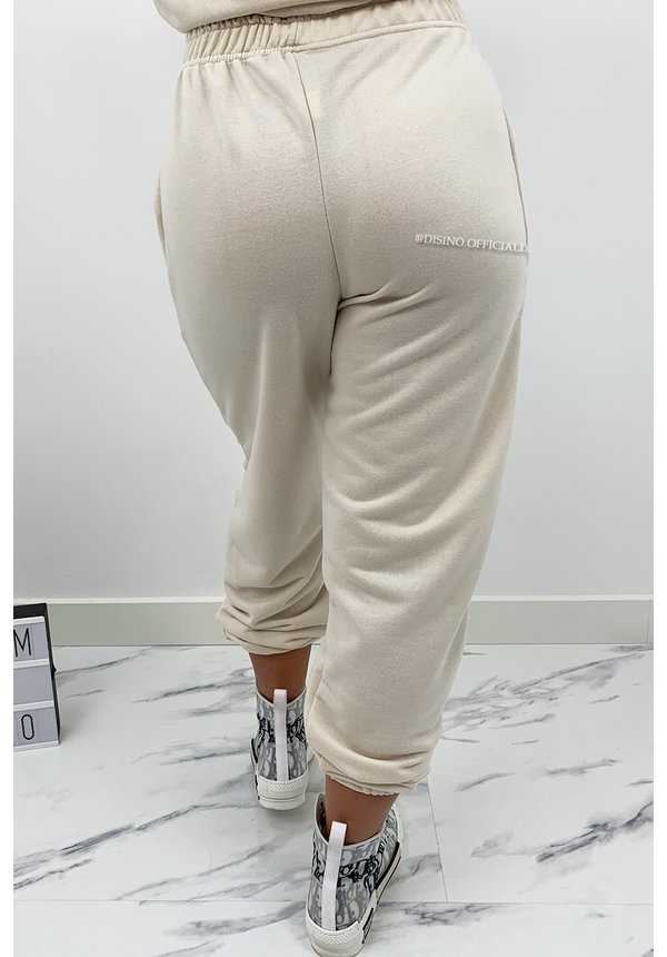 BEIGE - 'DIE FOR DIOR JOGGER' - SOFT TOUCH JOGGER PANTS