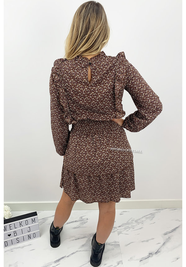 MOCCA - 'IRIS' - FLORAL PRINT RUFFLE DRESS
