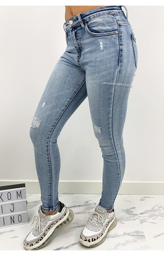 REDIAL - WHITEWASH BLUE - PERFECT SKINNY JEANS - 6652