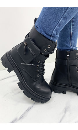 BLACK - INSPIRED POCKET BOOTS