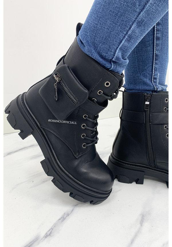 BLACK - INSPIRED POCKET BOOTS