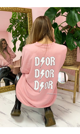 PINK - 'DIOR ON MY BACK' - INSPIRED OVERSIZED SWEATER