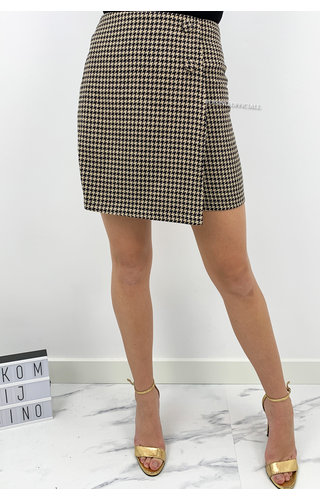 BEIGE - 'FAITH' - INSPIRED PRINT MINI SKIRT