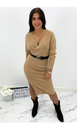 CAMEL - 'ZIVA' - PREMIUM QUALITY V DRESS