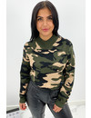 ARMY GREEN - 'RIVER' - PREMIUM QUALITY CAMO KNIT SWEATER