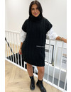 BLACK - 'NORALY' - PREMIUM QUALITY COL MAXI SPENCER