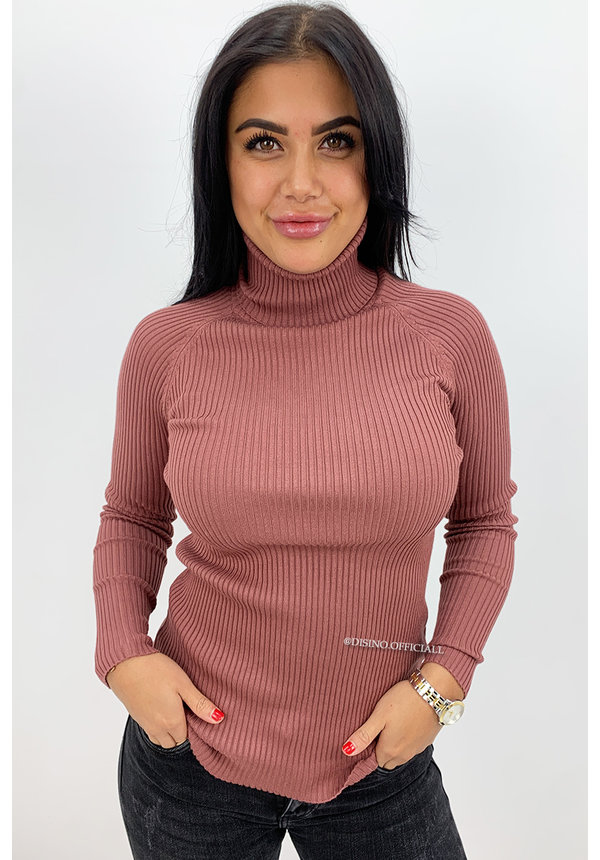 DUSTY PINK - 'DEBBIE' - BASIC RIBBED COL