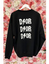 BLACK - 'DIOR ON MY BACK' - INSPIRED OVERSIZED SWEATER