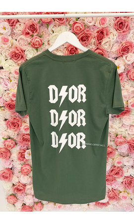 KHAKI GREEN - 'THUNDER DIOR' - INSPIRED OVERSIZED TEE