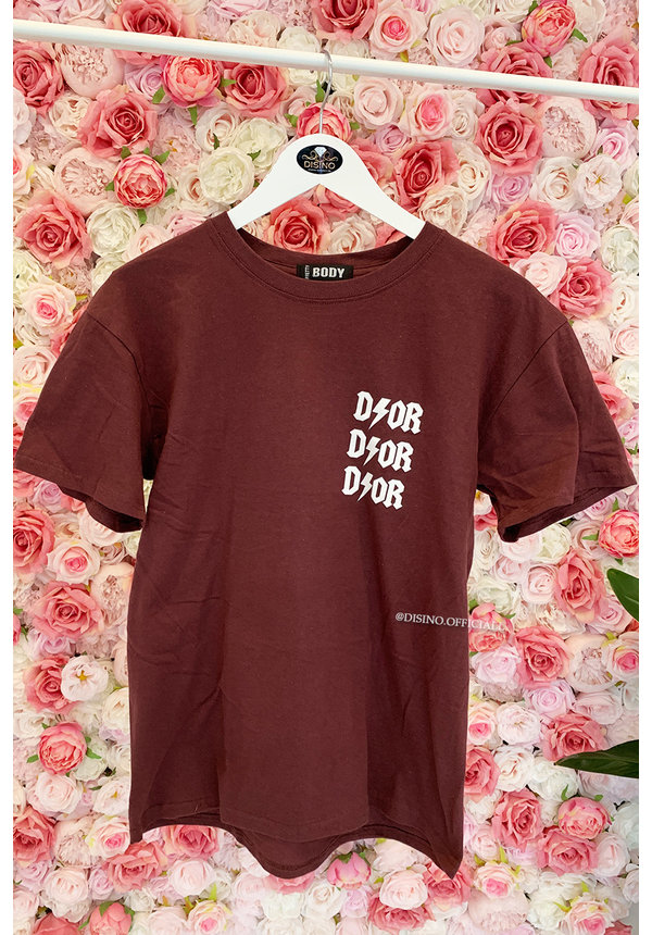 WINE RED - 'THUNDER DIOR' - INSPIRED OVERSIZED TEE