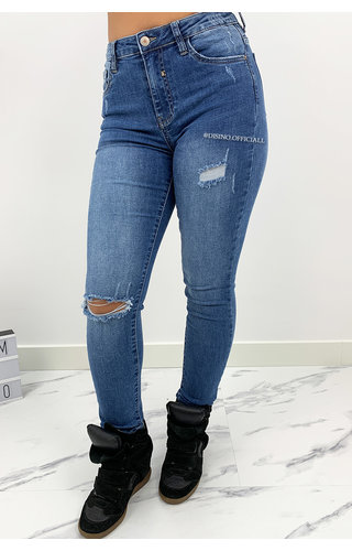 QUEEN HEARTS JEANS - BLUE - PERFECT SKINNY HIGH WAIST - 9170