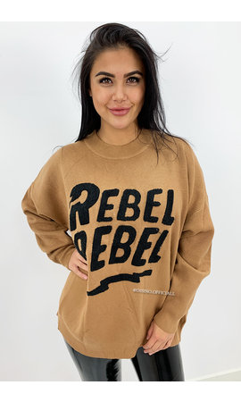 CAMEL - 'REBEL' - PREMIUM QUALITY OVERSIZED SWEATER