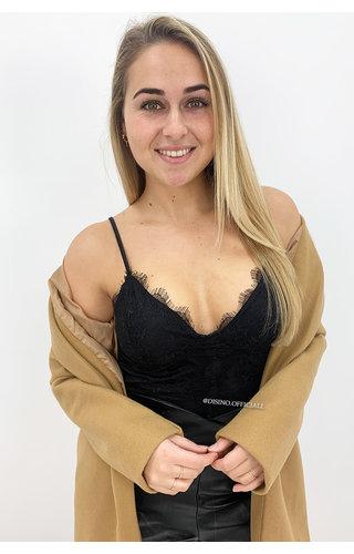 BLACK - 'LUCA' - SEXY LACE BODYSUIT